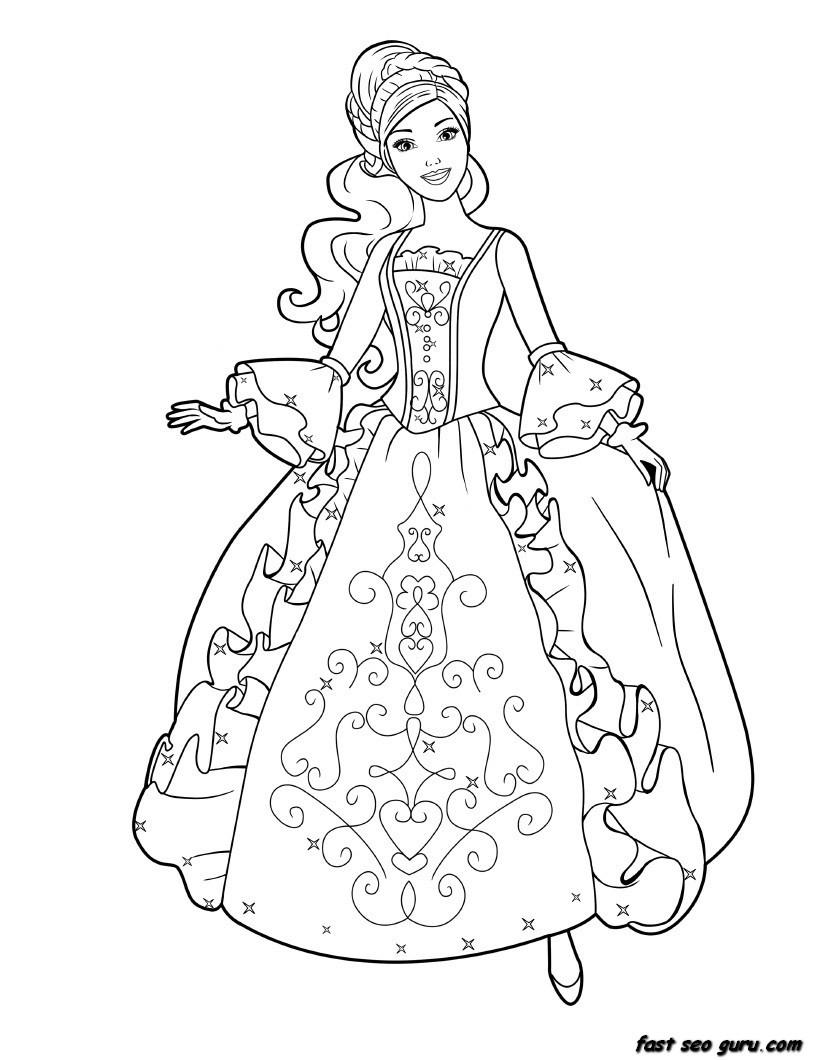 Princess Printable Coloring Pages In Princess Printable Coloring Pages Coloring Pages For Children
