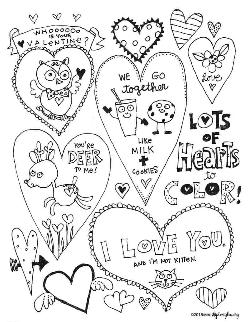Printable Heart Coloring Pages Adorable Free Heart Coloring Pages Skip To My Lou