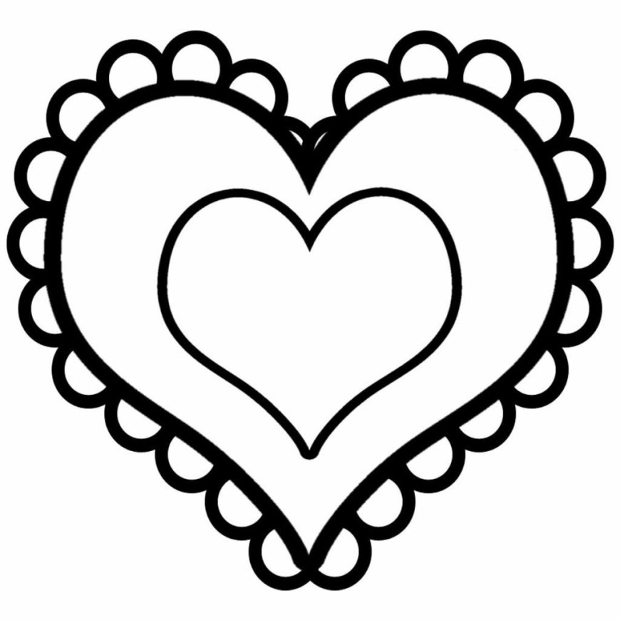 Printable Heart Coloring Pages Coloring Page Coloring Pages Printable Heart Free For Book Page