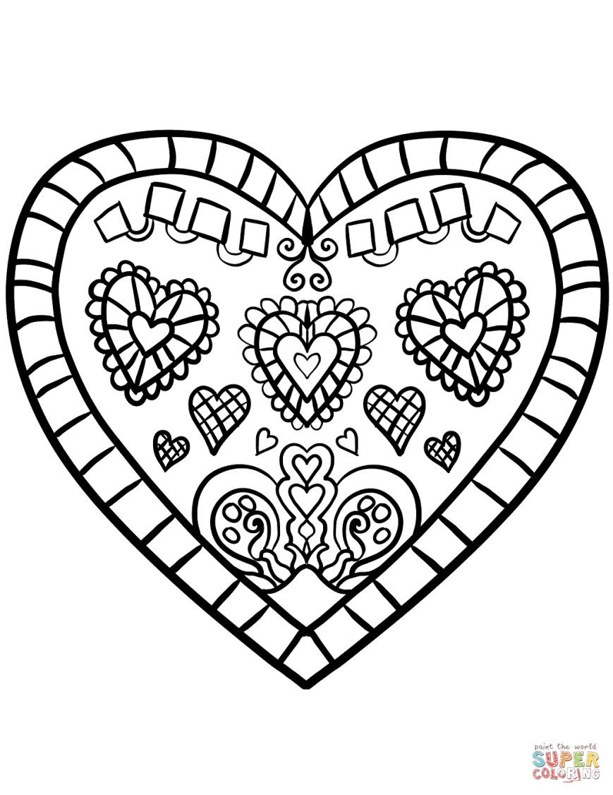 Printable Heart Coloring Pages Coloring Page Heart Heart Coloring Pages Free Printable Pictures