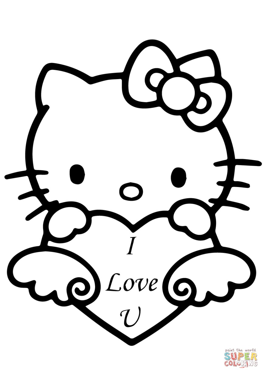 Printable Heart Coloring Pages Heart Coloring Page And Hello Kitty Coloring Book Printable