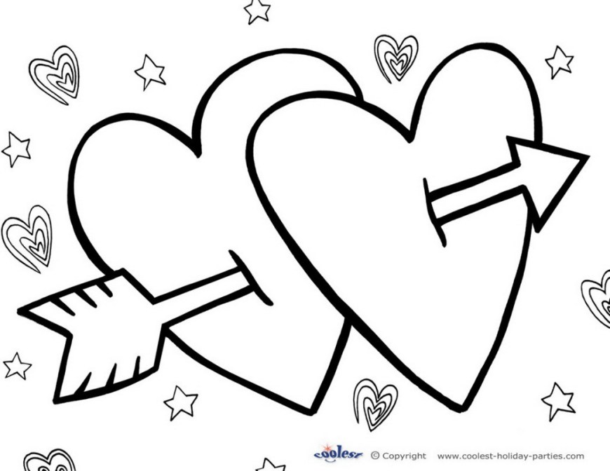 Printable Heart Coloring Pages Printable Heart Coloring Pages Valentines Happiness Is Homemade 835