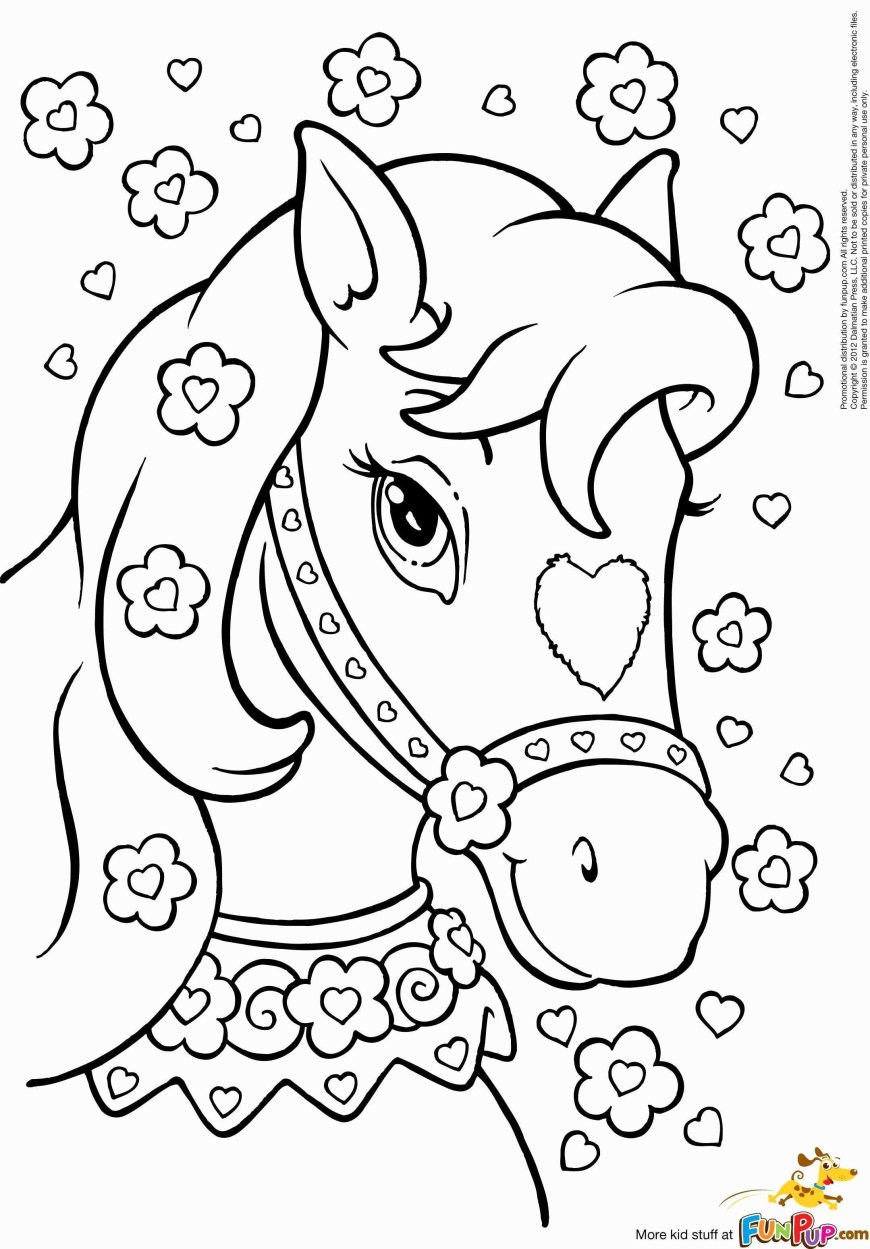 Printable Horse Coloring Pages Horse With Sunglasses Coloring Pages For Kids With Coloring Pages