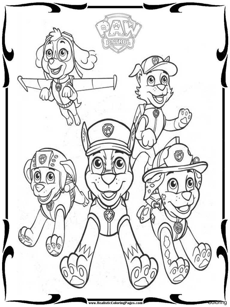 Printable Paw Patrol Coloring Pages Coloring Pages Paw Patrol Coloring Chase Picture Ideas Pages 20y