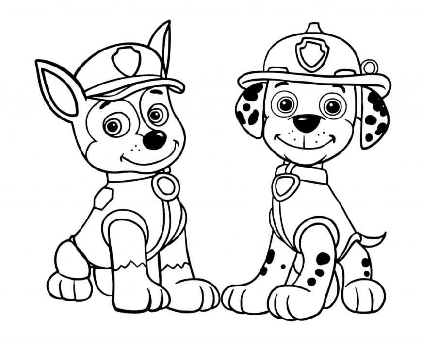 Printable Paw Patrol Coloring Pages Paw Patrol Coloring Page Coloring Pages Paw Patrol Chase And