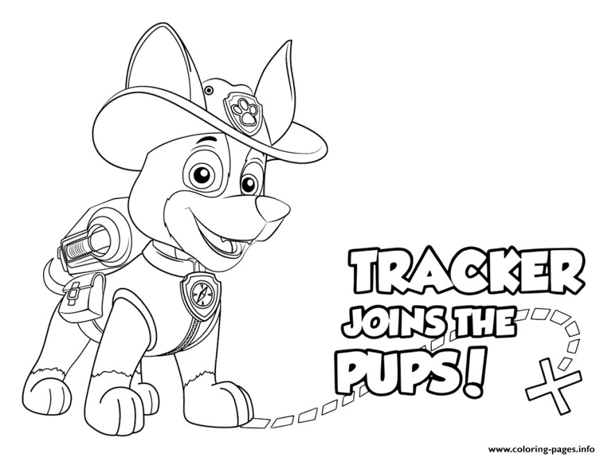 Printable Paw Patrol Coloring Pages Paw Patrol Tracker Pups Coloring Pages Printable Pup Patrol