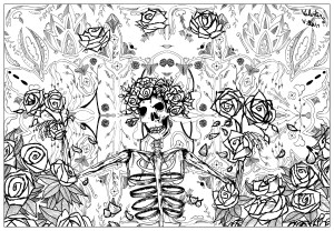 Psychedelic Coloring Pages Grateful Dead Art Psychedelic Adult Coloring Pages