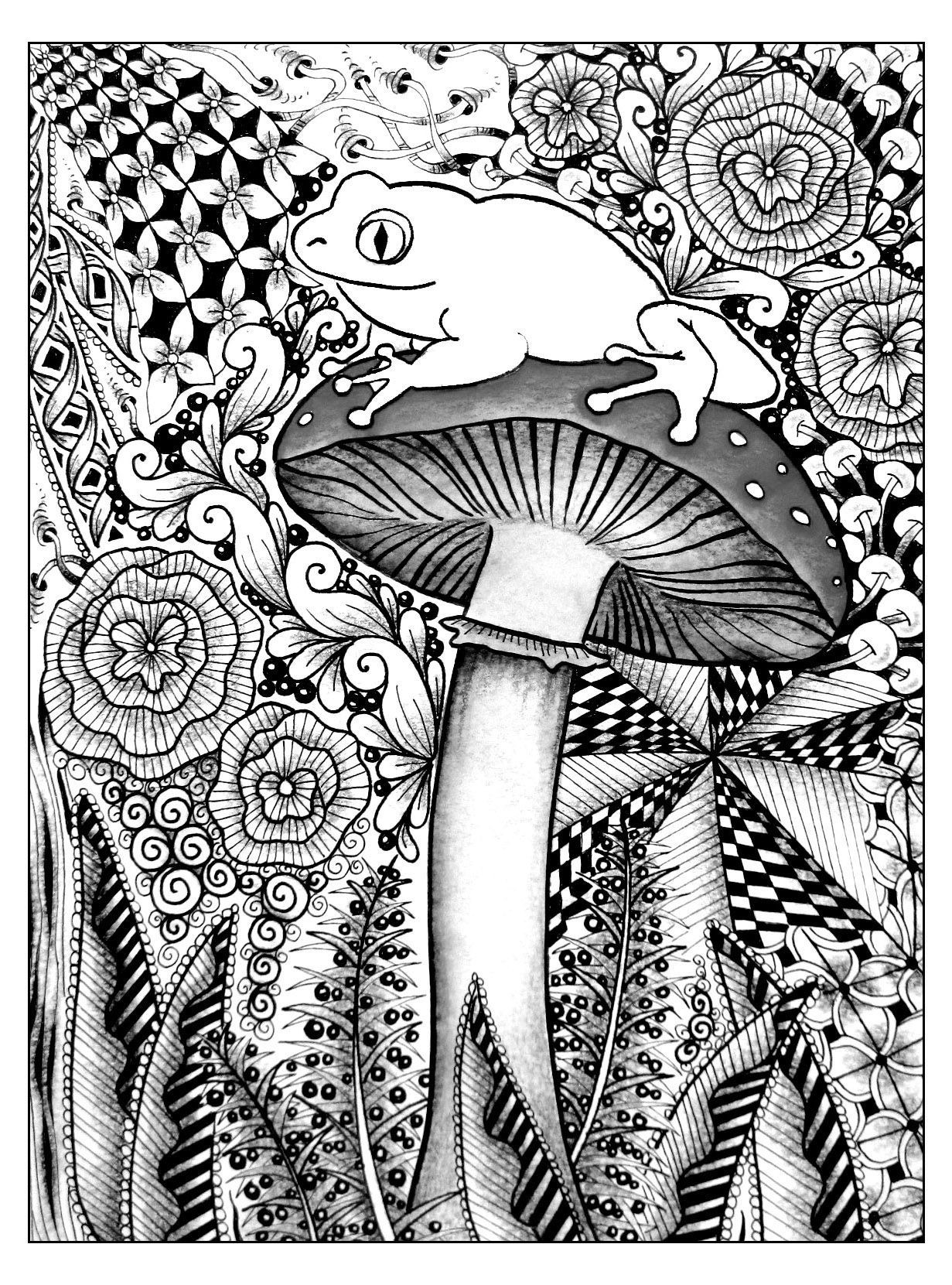 Psychedelic Coloring Pages Psychedelic Coloring Pages For ...