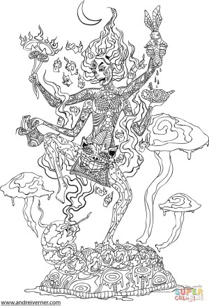 Psychedelic Coloring Pages Psychedelic Ornaments Coloring Page Free Printable Coloring Pages