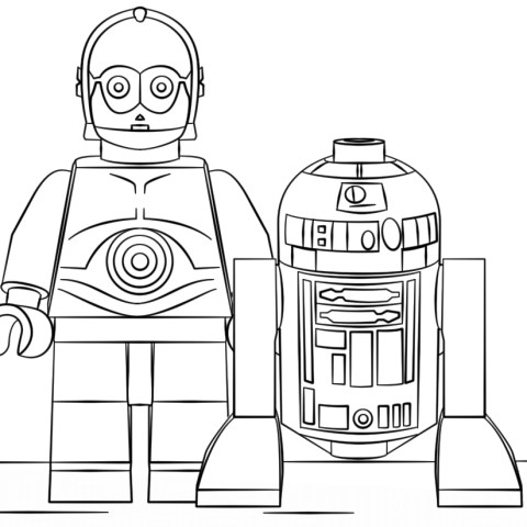 R2d2 Coloring Page Lego R2d2 And C3po Coloring Page Free Printable Coloring Pages