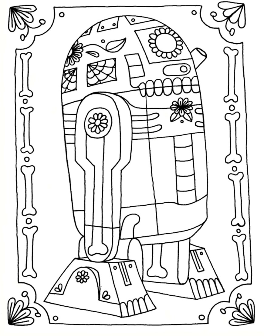 awesome picture of r2d2 coloring page  davemelillo