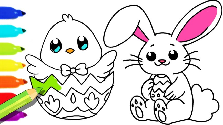 Rabbit Coloring Pages How To Draw And Color Easter Bunny And Fun Colouring Pages For Kids