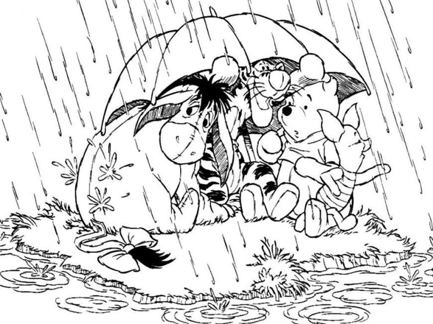 Rainy Day Coloring Pages Sampler Rainy Day Coloring Sheets Pages To Print For Free Color Book