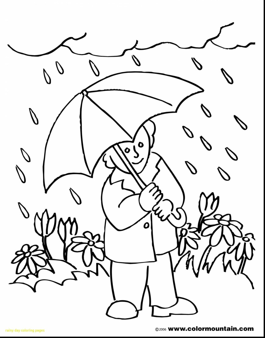 Rainy Day Coloring Pages Weather Coloring Pages New Collection 24 Rainy Day Coloring