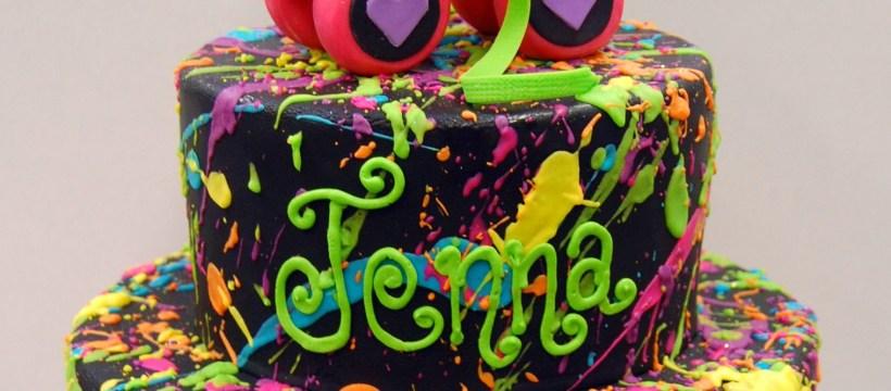 Roller Skate Birthday Cake We Like Totally Love This Rad 80s Throw Back Cake Fer Sure