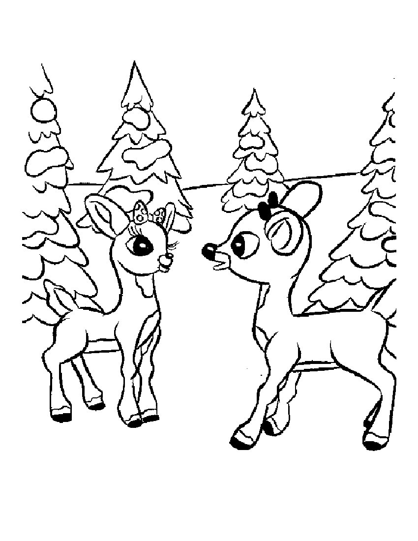 Rudolph The Red Nosed Reindeer Coloring Pages Christmas Coloring Sheets Rudolph Beautiful Reindeer Outline Pages