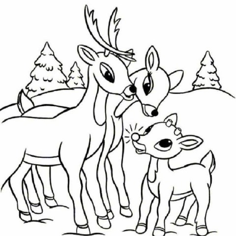 Rudolph The Red Nosed Reindeer Coloring Pages Rudolph The Red Nosed Reindeer Coloring Pages Hellokids
