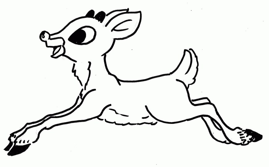 Rudolph The Red Nosed Reindeer Coloring Pages Rudolph The Red Nosed Reindeer Coloring Pages To Print Free And