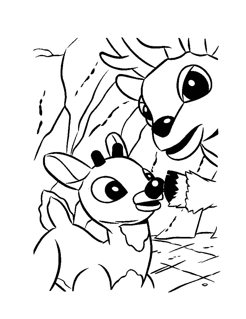 Rudolph The Red Nosed Reindeer Coloring Pages Rudolph The Red Nosed Reindeer Coloring Rudolph The Rednosed