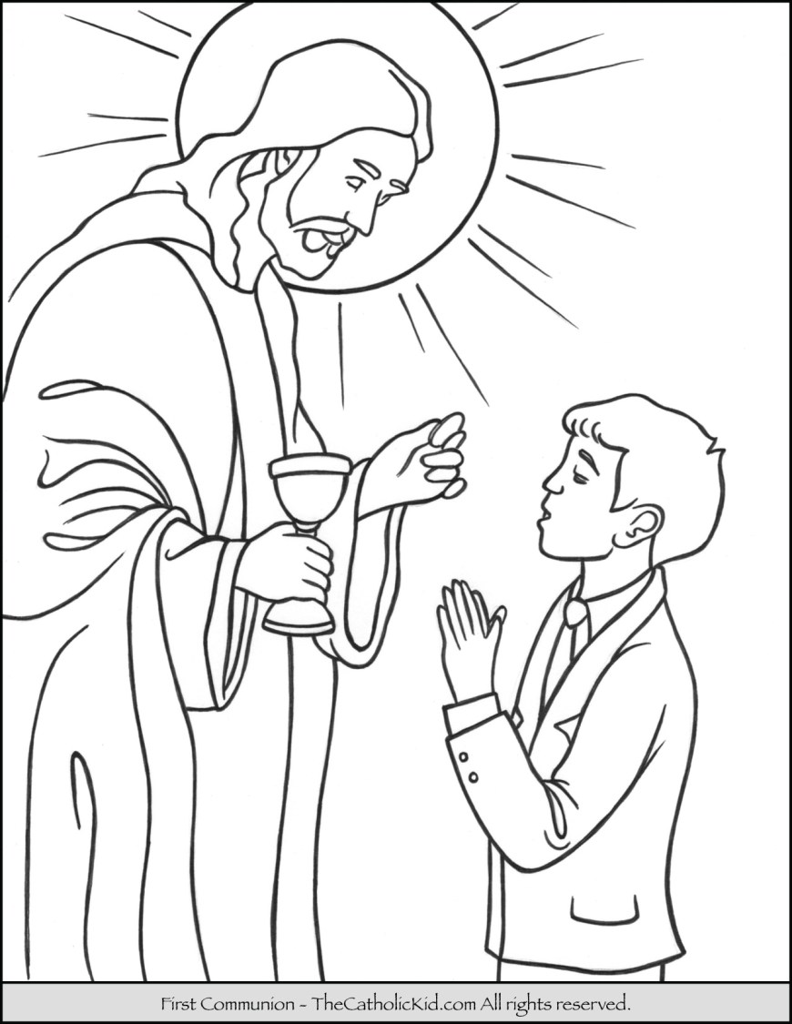 Saint Coloring Pages Catholic Coloring Pages At Getdrawings Free For Personal Use