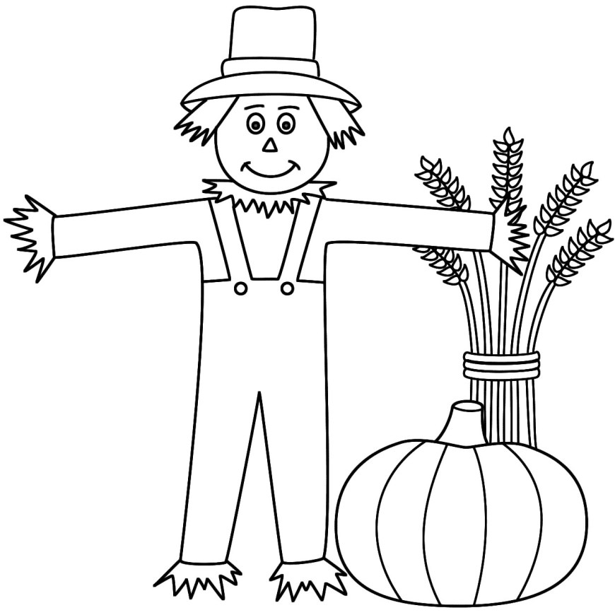 Scarecrow Coloring Page Nice Idea Scarecrow Coloring Page 1zqhrw9 Easy Free Pages Printables
