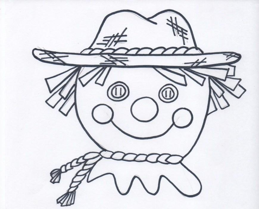 Scarecrow Coloring Page Scarecrow Coloring Pages Printables Free Printable Sheets Page To