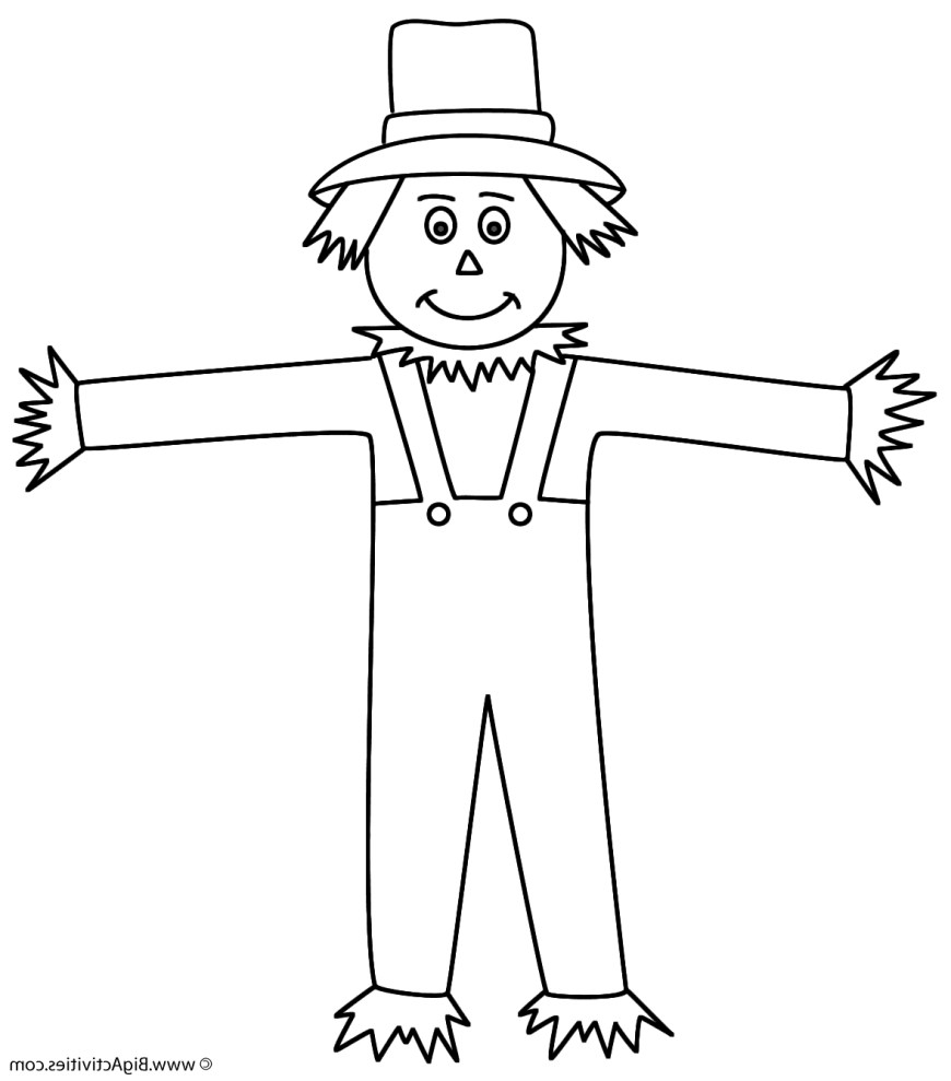 Scarecrow Coloring Page Scarecrow Coloring Sheet Vfbi Scarecrow Coloring Page Autumnfall