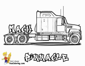 Semi Truck Coloring Pages Coloring Page Semi Truck Coloring Pages With Page Truck Coloring Book