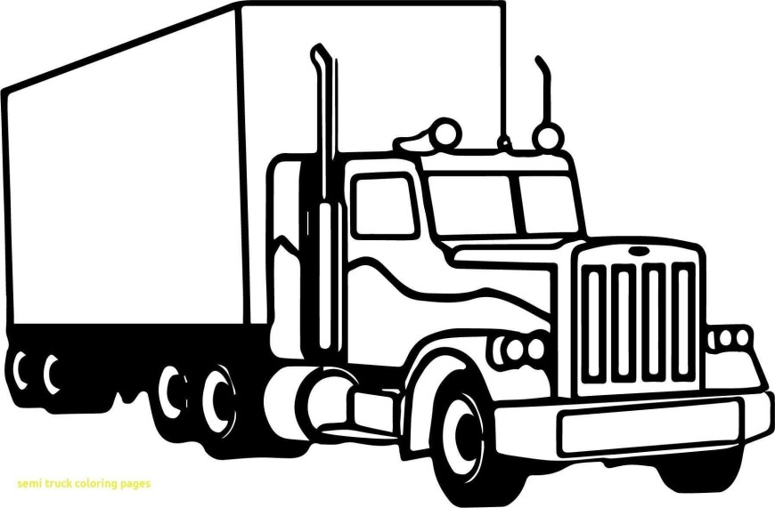 Semi Truck Coloring Pages Semi Truck Coloring Pages Elegant Coloring Book And Pages Blaze