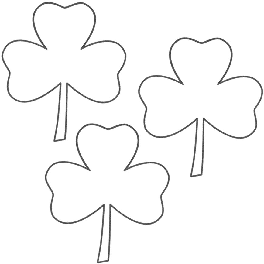 Shamrock Coloring Pages 1 Shamrock Color Page St Patrick Day Shamrock Coloring Pages Az