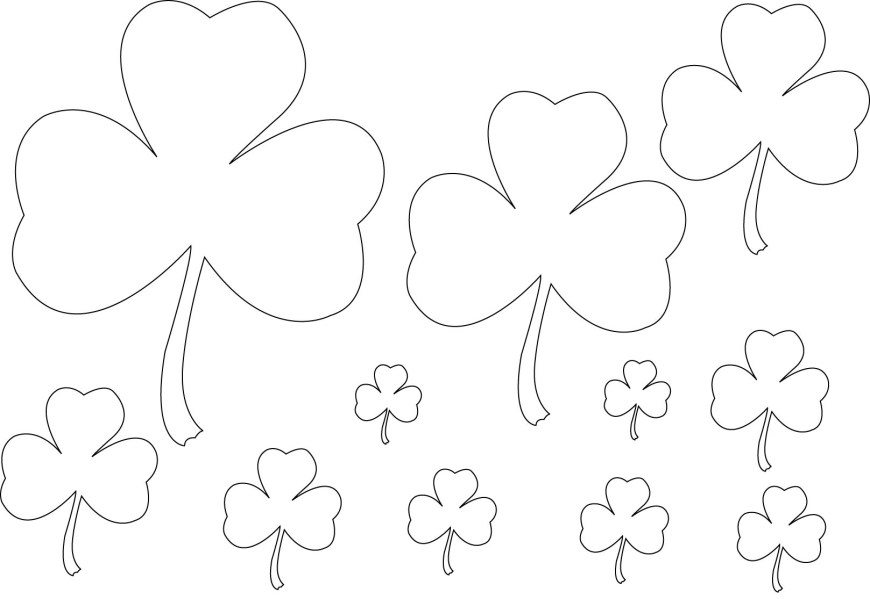 Shamrock Coloring Pages Free Printable Shamrock Coloring Pages For Kids