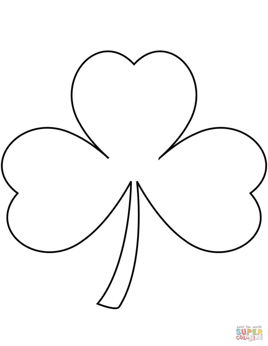 Shamrock Coloring Pages Shamrock Coloring Page Free Printable Coloring Pages