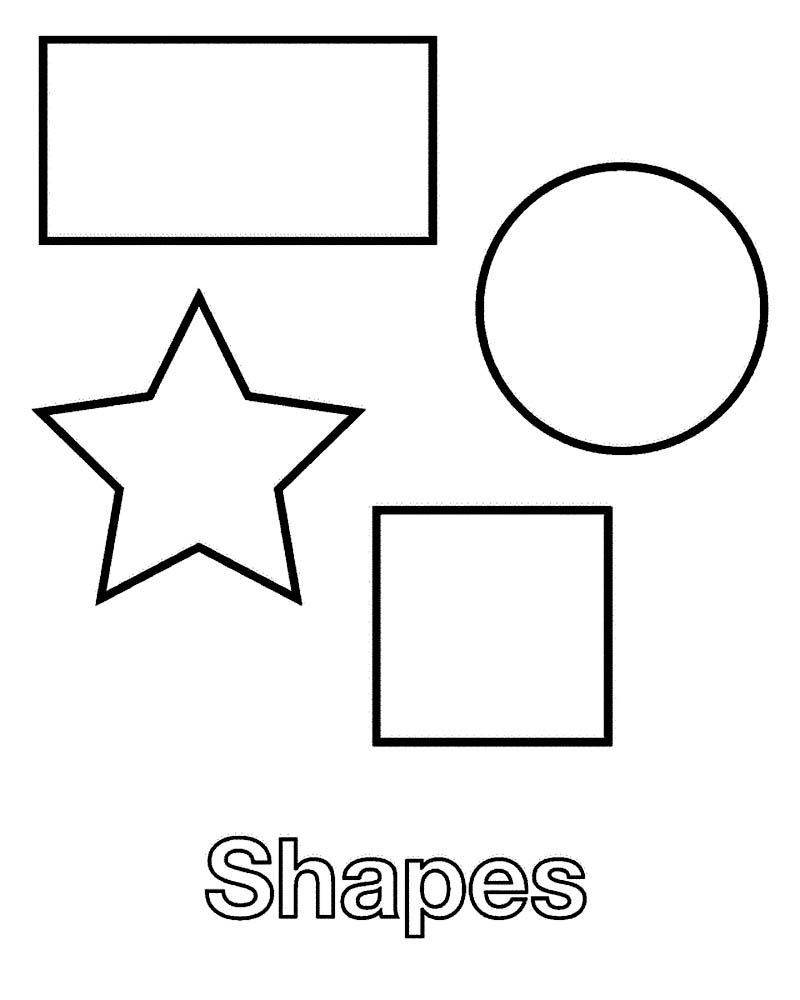 Shapes Coloring Pages Free Printable Shapes Coloring Pages For Kids