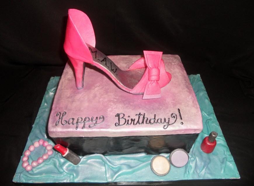 Shoe Birthday Cake 9 Shoe Birthday Cakes For Michelle Beautiful Photo High Heel Shoe
