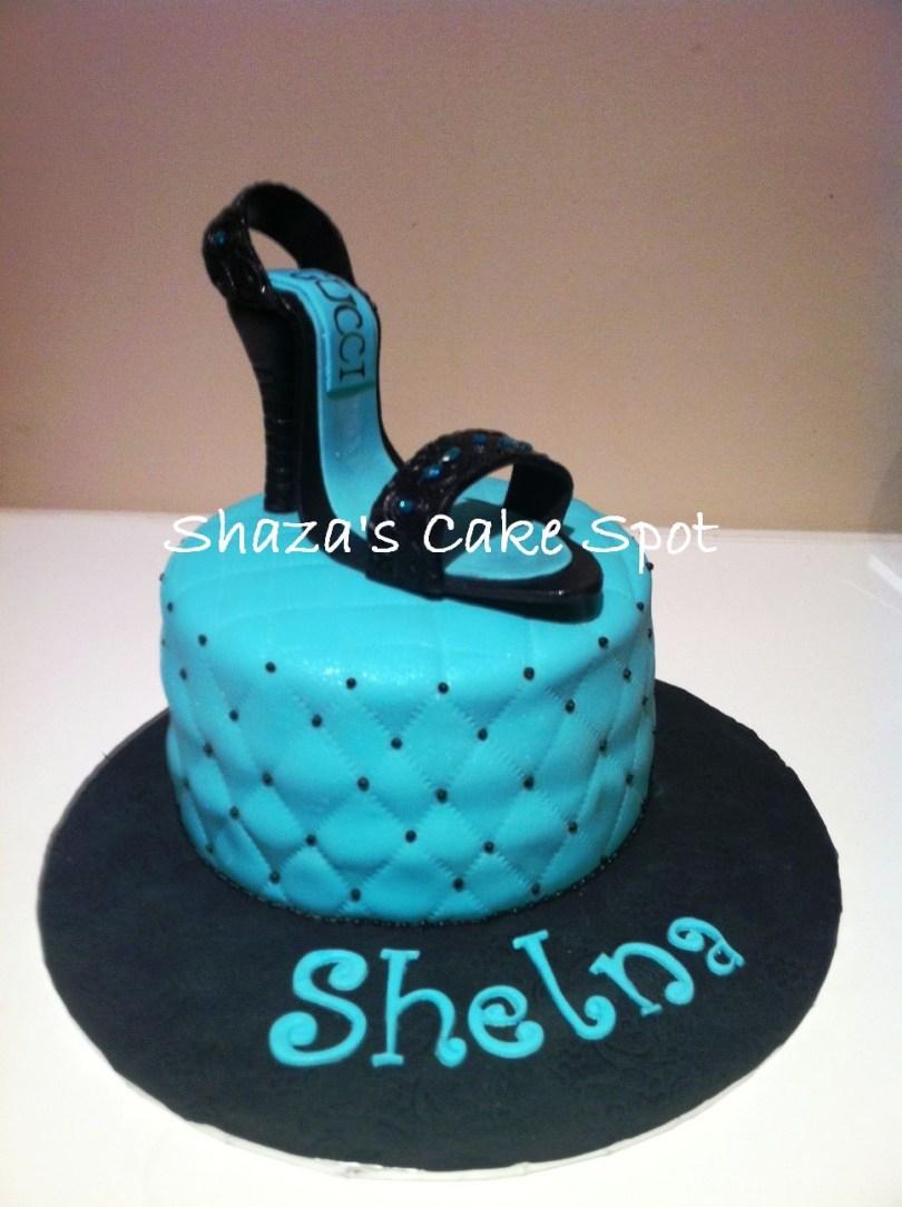 Shoe Birthday Cake Shoe Birthday Cake Shazas Cake Spot