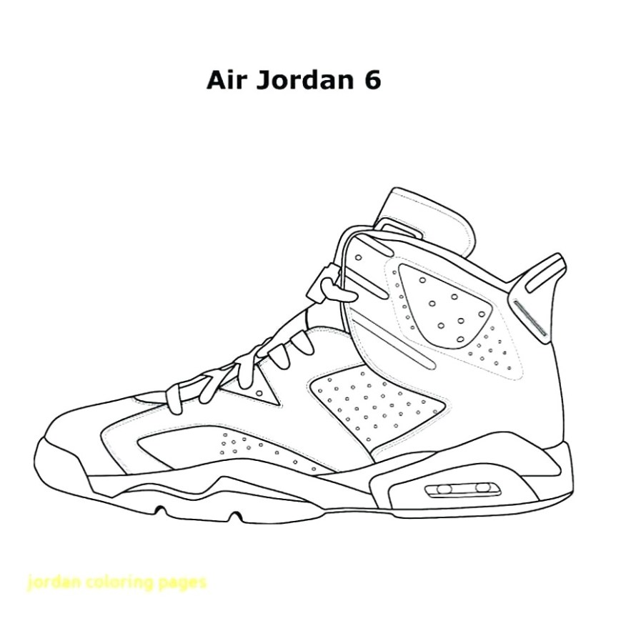 Shoe Coloring Page Awesome Jordan Shoe Coloring Pages Free Download At Shoes Bertmilne