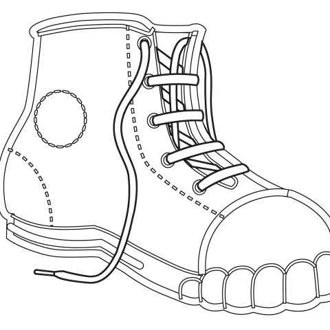 Shoe Coloring Page Coloring Page Clothes And Shoes Coloring Pages Free Shoe Page