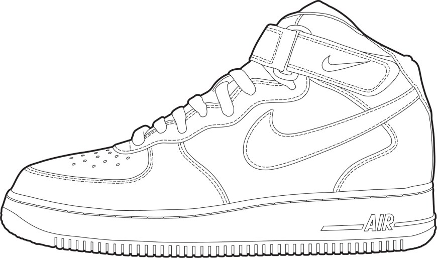Shoe Coloring Page Converse Shoe Coloring Page At Getdrawings Free For Personal