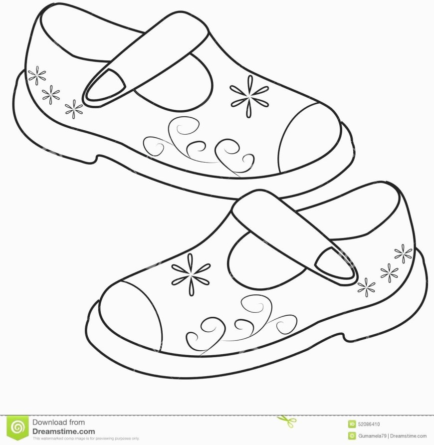 Shoe Coloring Page Printable Shoes To Color Style Guru Fashion For Shoe Coloring Page