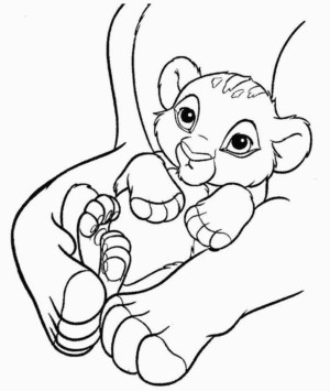 Simba Coloring Pages Ba Simba Coloring Pages Wwwilleurimage