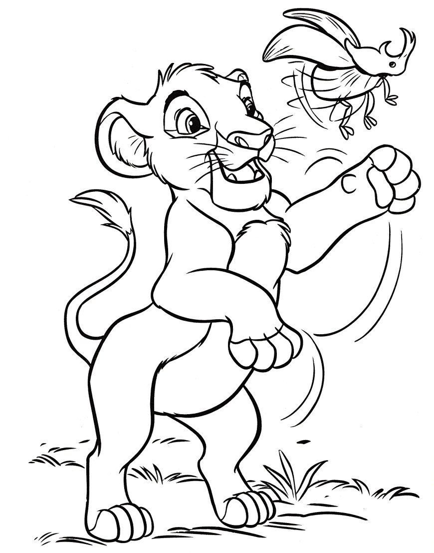 Simba Coloring Pages Grown Simba Coloring Page Pages Diywordpress