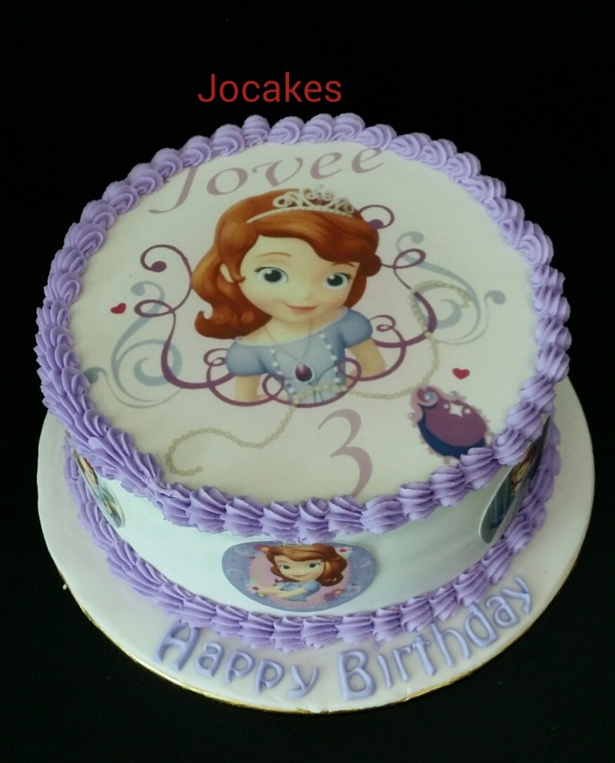 Sofia The First Birthday Cakes Sofia The 1st Cake And Cupcakes For Jovees 3rd Birthday Jocakes