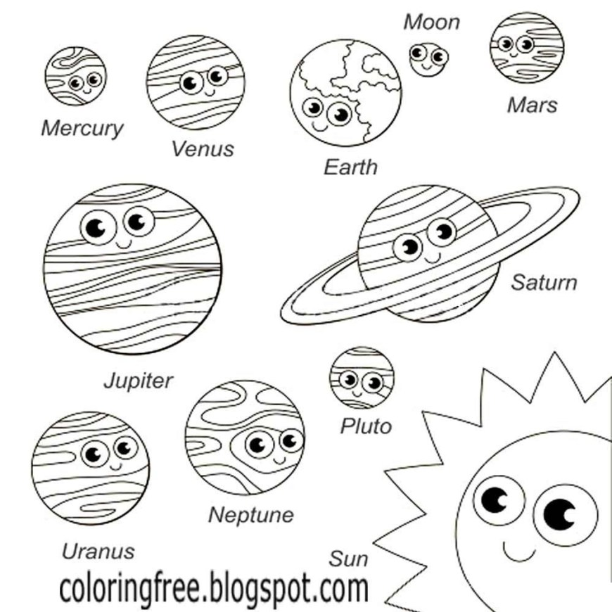 Solar System Coloring Pages Coloring Pages Solar System Coloring Pages For