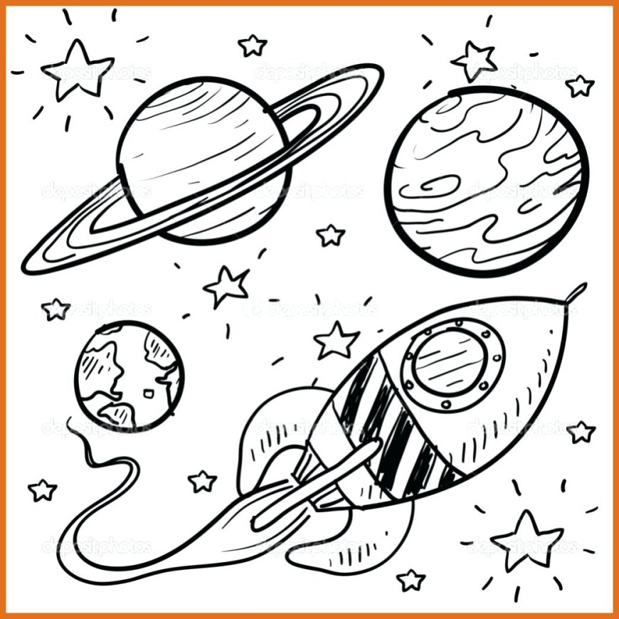 Solar System Coloring Pages Free Solar System Coloring Pages With Amazing Printable Outer Space