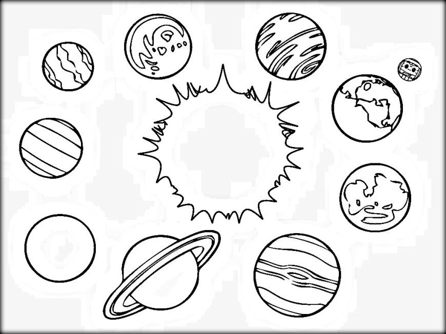Solar System Coloring Pages Solar System Coloring Pages 28 Collection Of Kindergarten High 1024