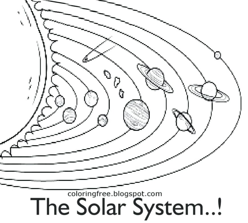 Solar System Coloring Pages Solar System Coloring Pages Kindergarten At Getdrawings Free