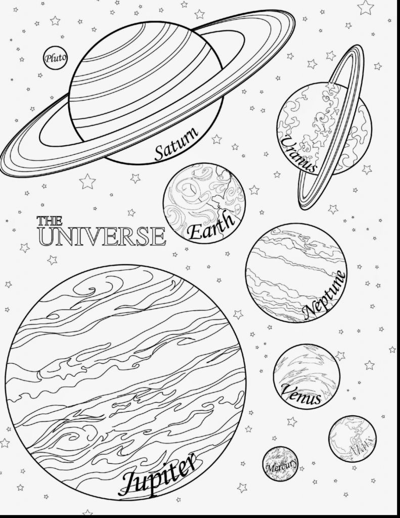 Solar System Coloring Pages Solar System Coloring Pages Unique Solar System Coloring Pages Ruva