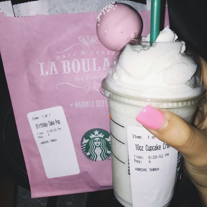 Starbucks Birthday Cake Pop Mini Cupcake Frappuccino And Birthdaycake Cakepop Embrace The