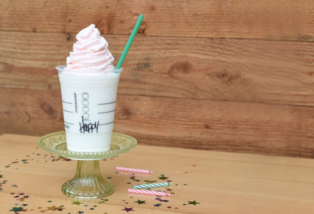 Starbucks Birthday Cake Pop Starbucks Unveils New Frappuccino For Drinks 20th Birthday Fortune