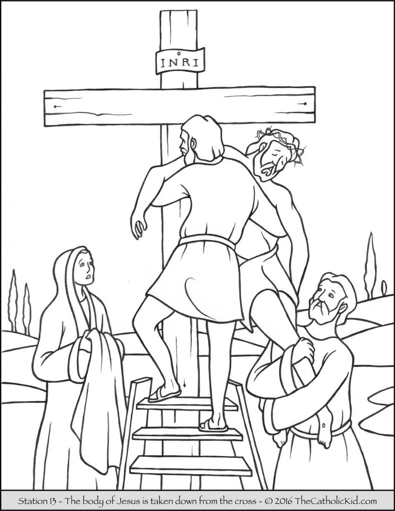 Stations Of The Cross Coloring Pages Coloring Pages Of The Stations Cross Colouring Free Printable